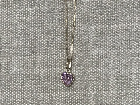 "Heart Charm with 18"" Box Chain"